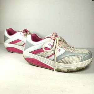 One Step Up Workout Sneakers White/Pink Size 10